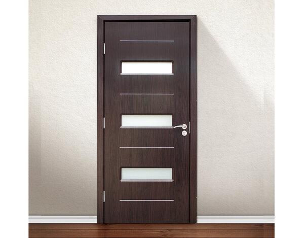 Интериорна врата Black Walnut - със стъклени елементи