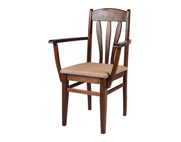 """Трапезен стол """"Лале"""" с подлакътници - орех"""