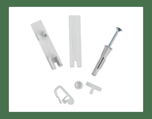 Комплект аскесоари за двуканална PVC релса - различни размери