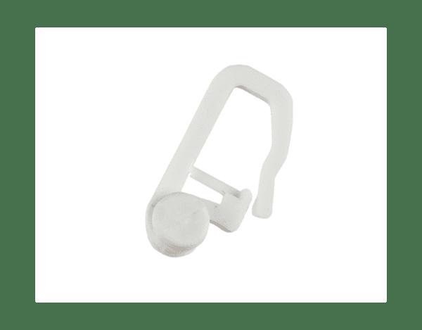 Пластмасова кука за двуканална PVC релса - 50 бр.