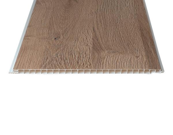 """PVC ламперия """"Светъл дъб - Фредвил"""" - 25 x 300 x 0.8 cm"""