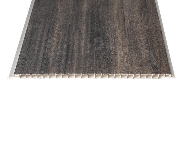 "PVC ламперия ""Тъмен Габър"" - 25 x 300 x 0.8 cm"