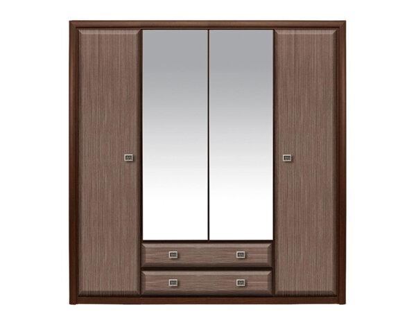 Четирикрилен гардероб Koen - строкс, венге