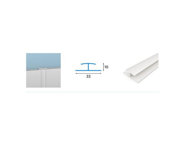 Снадка за PVC ламперия - 3.3 x 1 x 300 cm