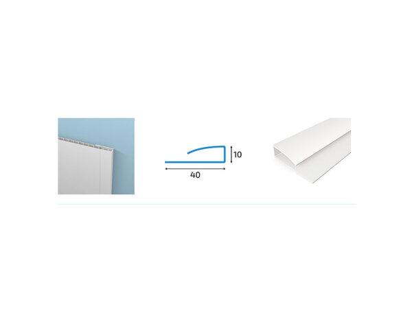 Стартова планка за PVC ламперия - 4 x 1 x 300 cm