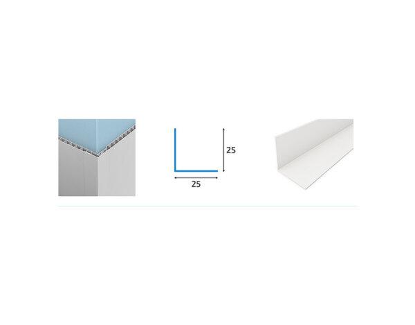 Ъгъл за PVC ламперия - 2.5 x 2.5 x 300 cm