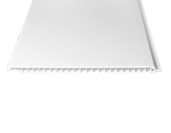 """PVC ламперия """"Бял лак"""" - 25 x 270 x 0.8 cm"""