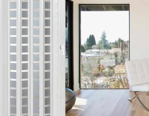 PVC врата S. Square - бяла, 86 x 203 cm