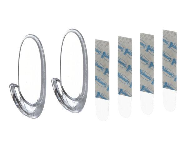 Овална закачалка - прозрачна, 2 бр.