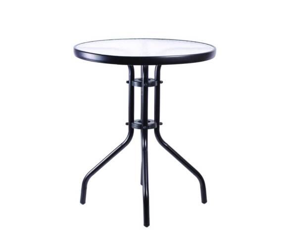 Градинска маса - със стъклен плот, ø70 cm