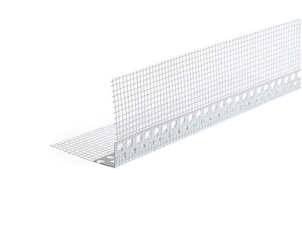 PVC ъгъл с мрежа - 2.5 m