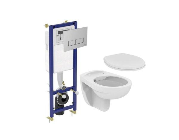 Комплект структура за вграждане Eurovit - с моноблок и седалка