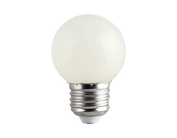 LED крушка - E27, 1 W, различна светлина