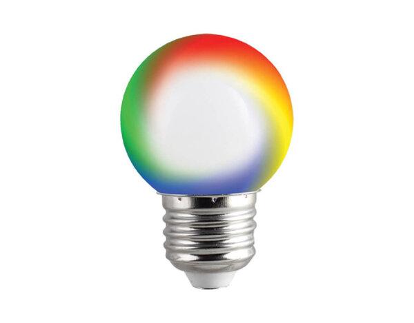 LED RGB крушка - E27, 0.5 W, променяща се светлина