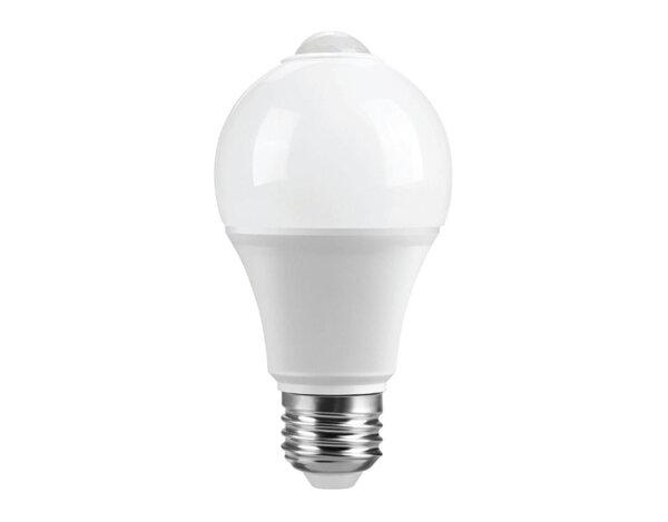 LED крушка със сензор - E27, 7 W, 4000 K