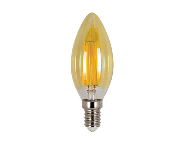 LED филамент крушка - E14, 4 W, 2700 K