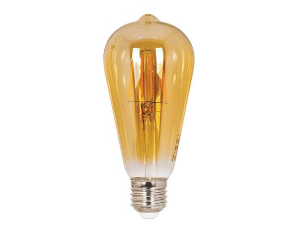 LED филамент крушка - E27, 6 W, 2700 K