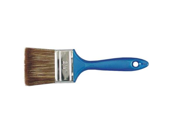 Четка с пластмасова дръжка и кафяв косъм - 70% връх, различна ширина