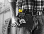 Джобен нивелир с калъф за колан Electric - 7 cm