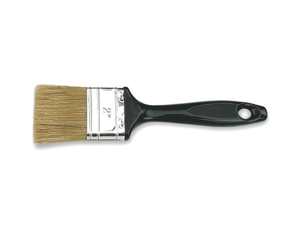 Четка с пластмасова дръжка и бял косъм - 60% връх, 100 x 20 mm