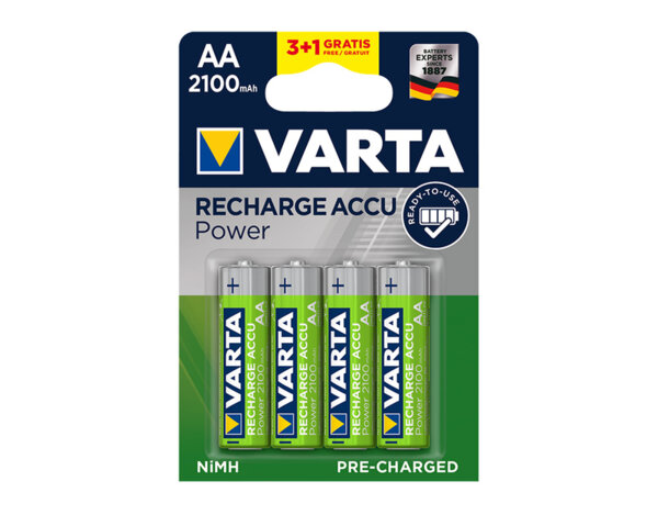 Презареждаеми батерии Accu - 1.5 V, AA, 2100 mAh, 3+1 бр.