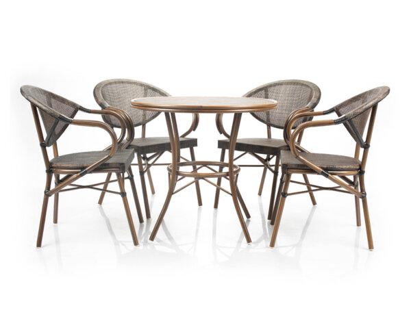 Градински комплект - маса с четири стола