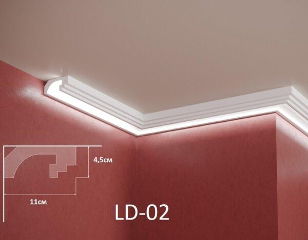 XPS профил за скрито LED осветление - 2m
