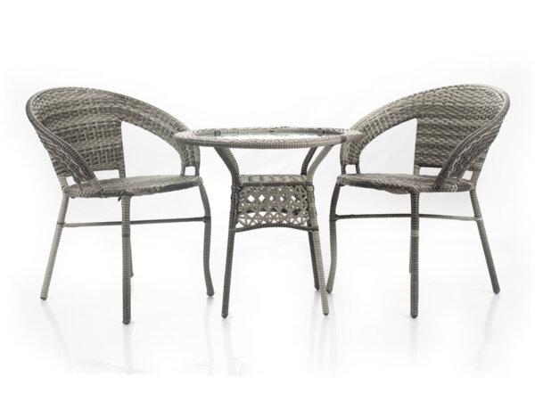 Градински комплект - маса с два стола