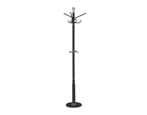 Закачалка за дрехи, стояща - черна, 170 cm