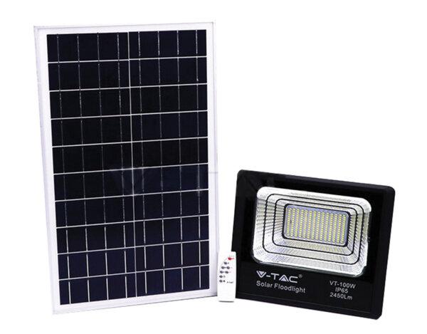 Соларен LED прожектор - 4000 K, различна мощност