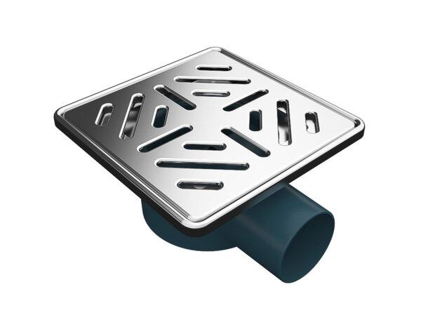 Сифон с решетка и рамка, страничен изход - 150 х ø50 mm