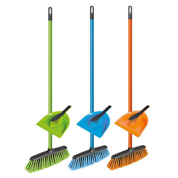 Сет за почистване – метла и четка с лопатка