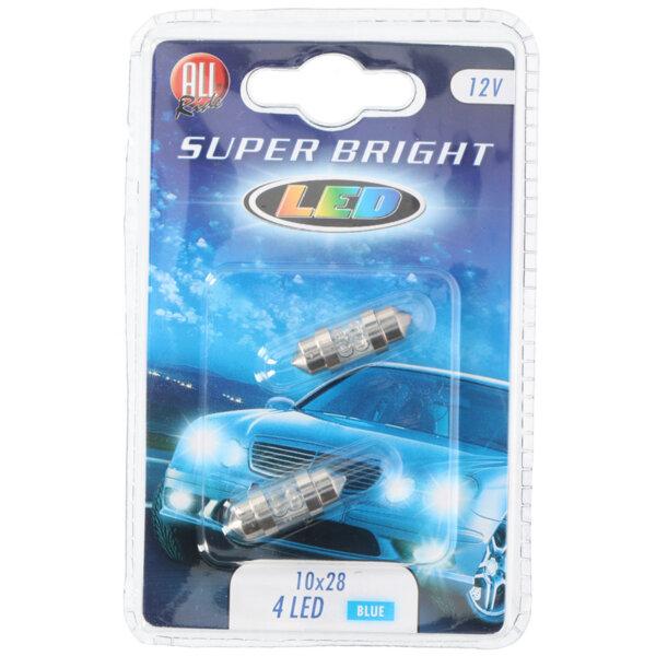 Сулфидни крушки, сини - 12 V, 4 LED