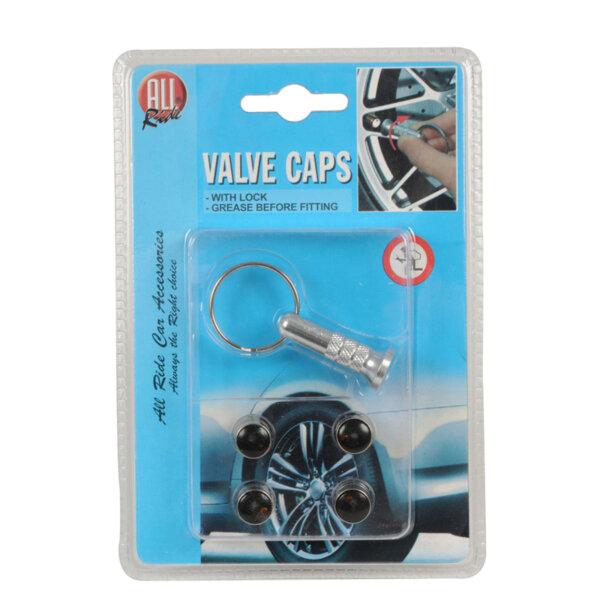 Капачки за вентили с ключ - 4 бр.