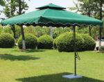 Чадър със стойка - 2.45 m, тъмнозелен