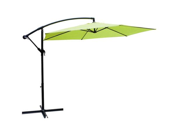 Чадър със стойка - 2.90 m, светлозелен