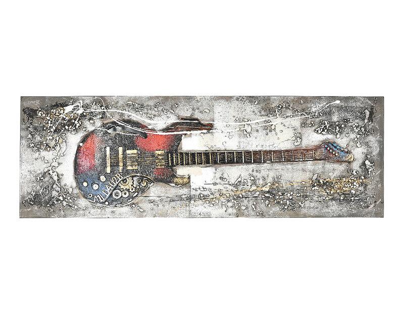 """Дървена картина """"Електрическа китара"""" - 150 x 50 cm"""