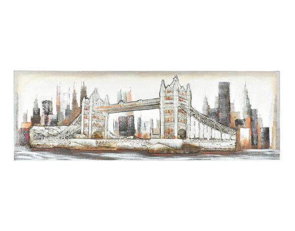 Дървена картина Tower Bridge - 150 x 50 cm