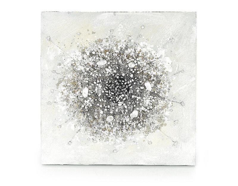 """Дървена картина """"Експлозия в нежността"""" - 80 x 80 cm"""