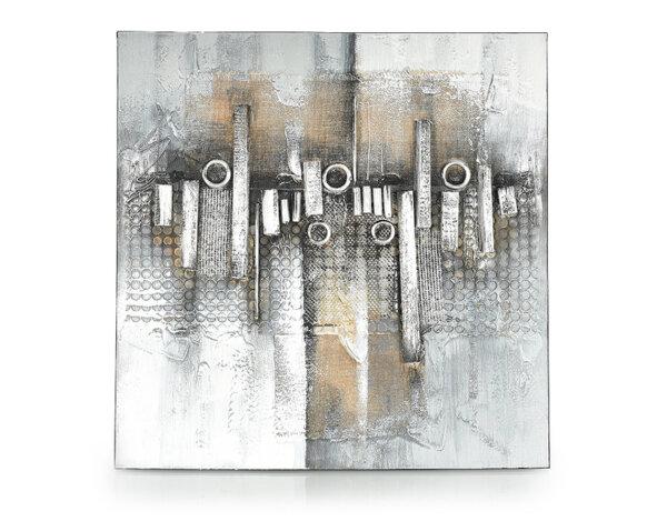 """Дървена картина """"Елементи"""" - 80 x 80 cm"""