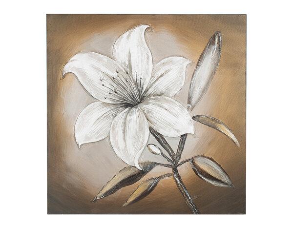 """Дървена картина """"Лилиум"""" - 80 x 80 cm"""