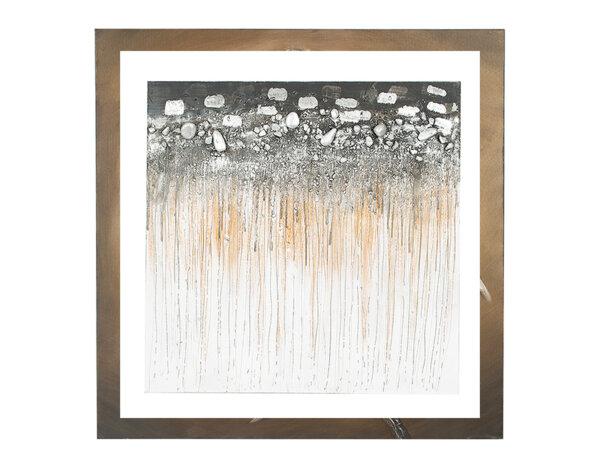 """Дървена картина """"Абстрактна почва"""" - 80 x 80 cm"""