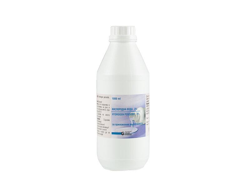 Кислородна вода 3% - 1000 ml