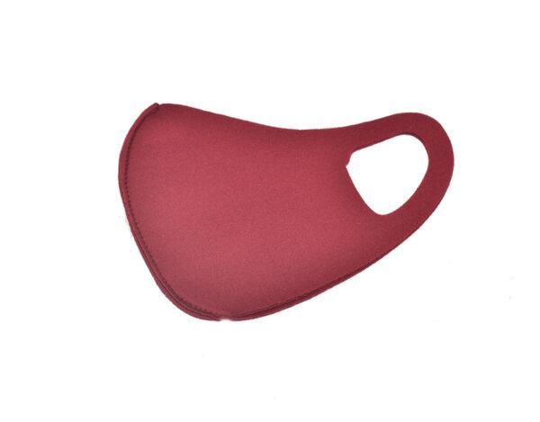 Трипластова маска за многократна употреба - бордо