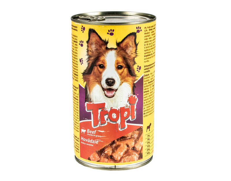 Консервирана храна за кучета - говеждо, 1.250 kg