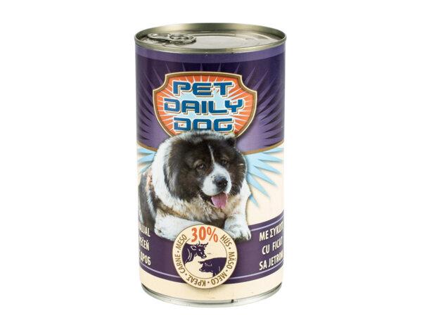 Консервирана храна за кучета - дроб, 1.240 kg
