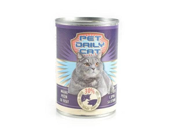 Консервирана храна за котки - дроб, 0.415 kg