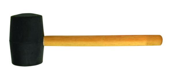 Чук гумен с обла дървена дръжка черен 340g BS