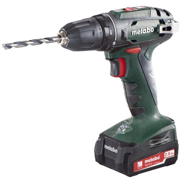 Бормашина Metabo BS 14.4 - 14.4 V, 40 Nm, 2 x 2 Ah, 10 mm, акумулаторна
