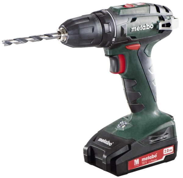 Бормашина Metabo BS 18 - 18 V, 48 Nm, 2 x 2 Ah, 10 mm, акумулаторна